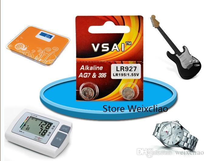 50 pz 1 lotto AG7 LR927 195 395 395A 399 SR927 LR57 1.55 V batterie a bottone alcaline batteria a bottone VSAI Spedizione Gratuita