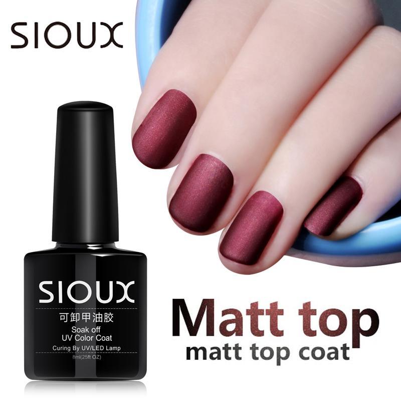 Wholesale Sioux 8ml Matop Coat Matte Uv Gel Nail Polish Uv Varnish ...