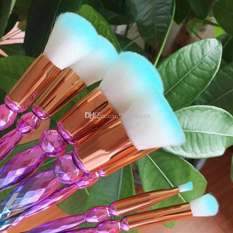 Diamant Make-up Pinsel Set Professionelle Highlighter Bürsten Concealer bilden Bürsten-Satz Mermaid Bürsten Kit