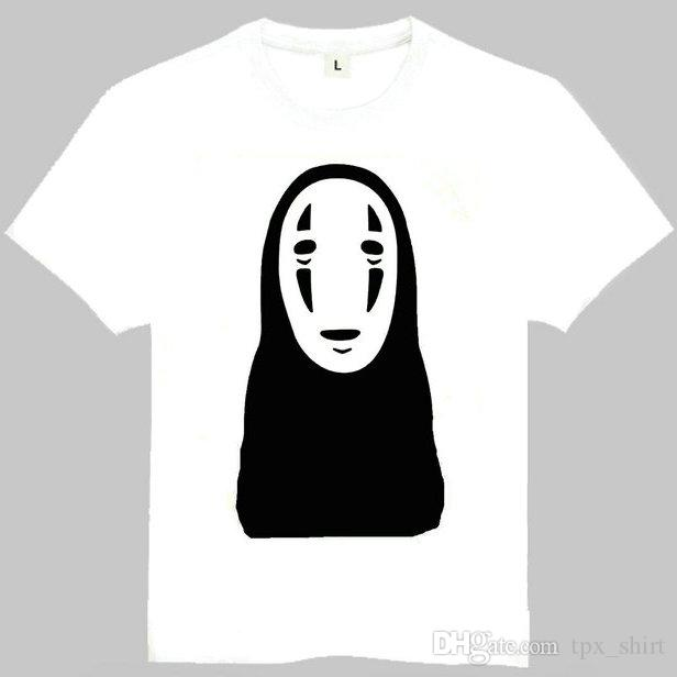 a2e6e0f86 Mr No Face T Shirt Spirited Away Short Sleeve Gown Cartoon Masked Tees  Leisure Unisex Clothing Quality Cotton Tshirt T Shirts T Shirts T Tee Shirts  From ...