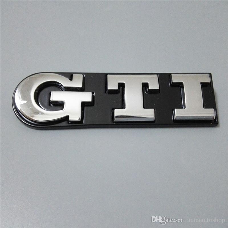 Car Styling 3D GTI Logo emblèmes de voiture pour insignes de voiture en plastique ABS Volkswagen en plastique ABS