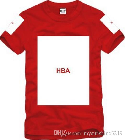 Freies Verschiffen chinesische Größe S - 3XL 2014 Sommert-shirt Haube durch Luft HBA X Trill Kanye freier Raum druckte Hba T-Stück Männer T-Shirts 5 Farbe 100% Baumwolle