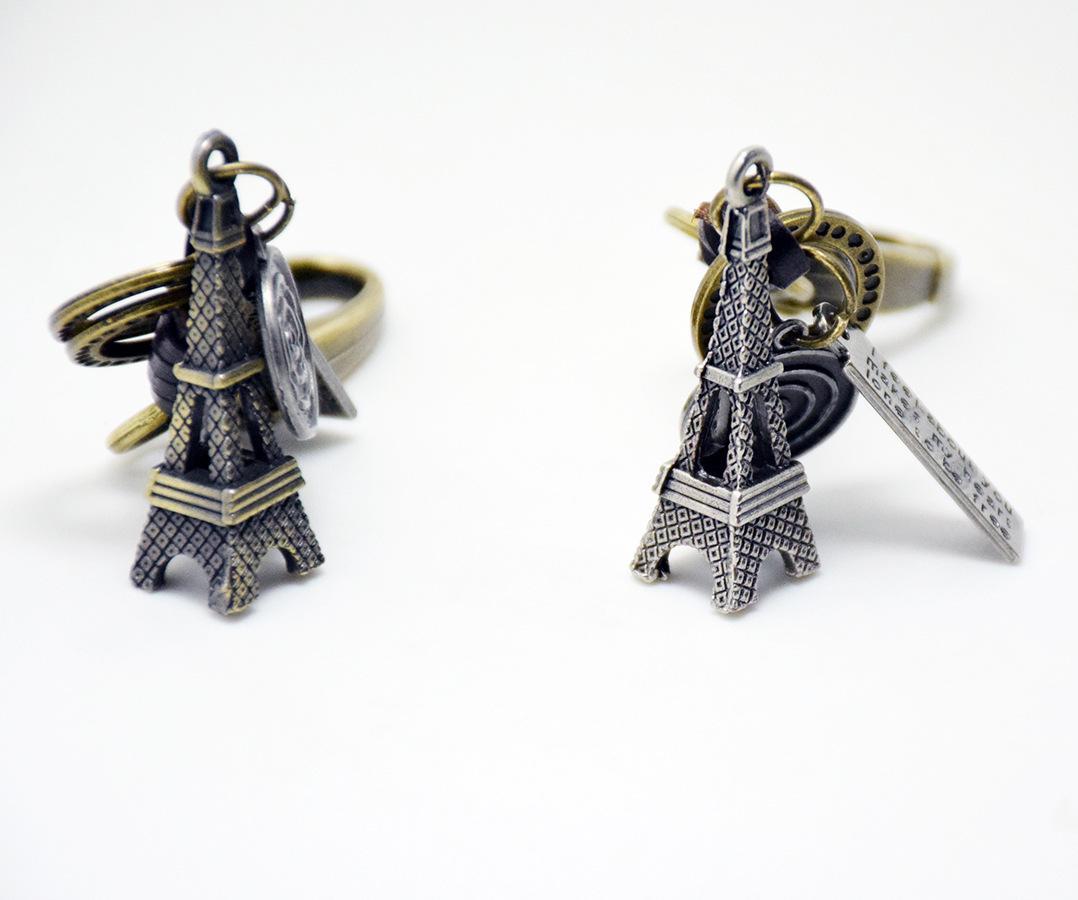 Unique Eiffel Tower Key ring Keychain Fashion Metal HandBag Pendant Purse Bag Buckle key chains holder Accessories Gift