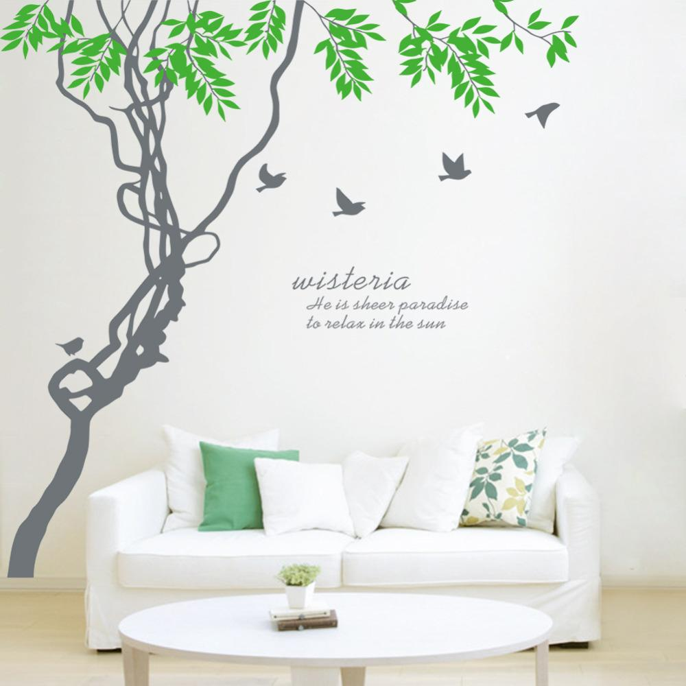 oversized kitchen wall sticker 188 210cm diy cuteness birds tree 27