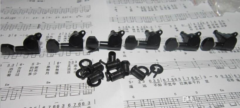 / 일렉트릭 기타 현악기를위한 까만 기타 부속품을 놓으십시오 조정 구두 열쇠 조율사 기계 머리 기타 부속
