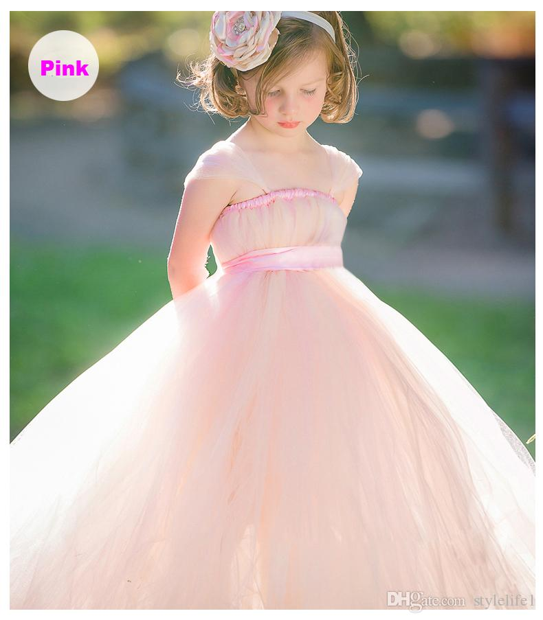 Kids Dresses For Girls Long Vintage Baby Girl Birthday Party ...