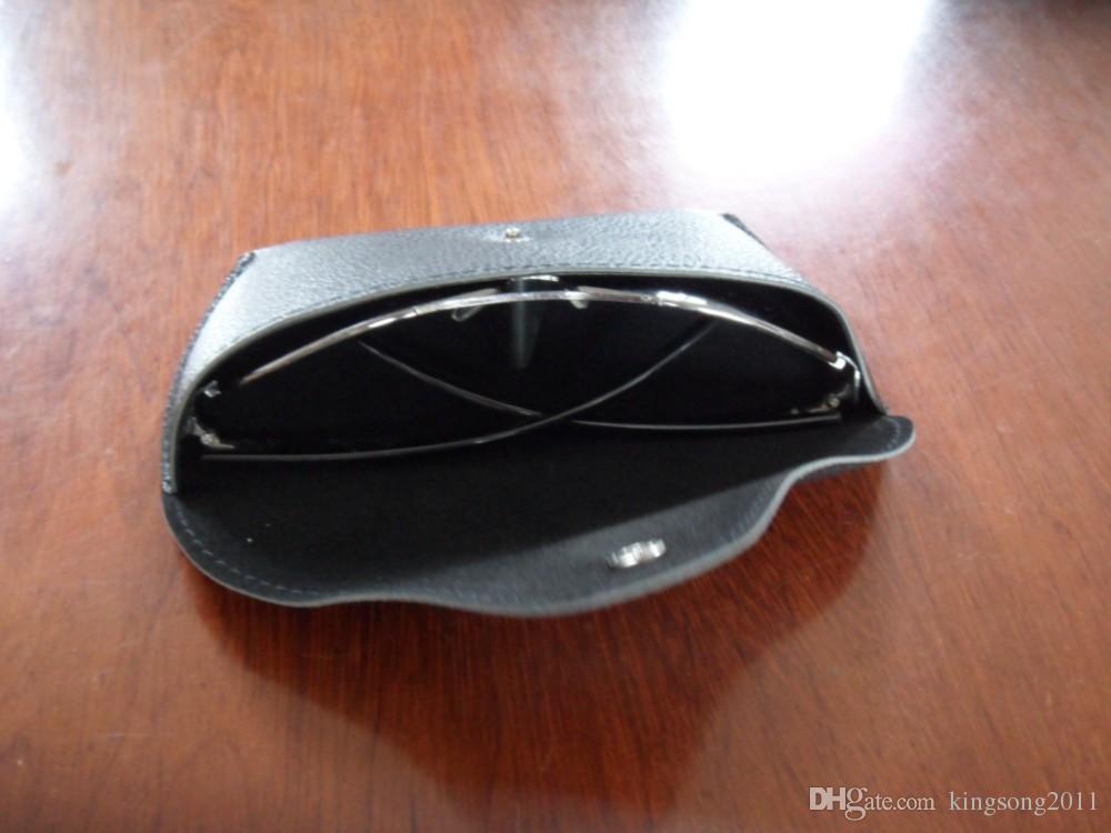 PU-Leder-Sonnenbrille weiche Tasche mit Samt Futterknopf schließen Slip-in-Fall