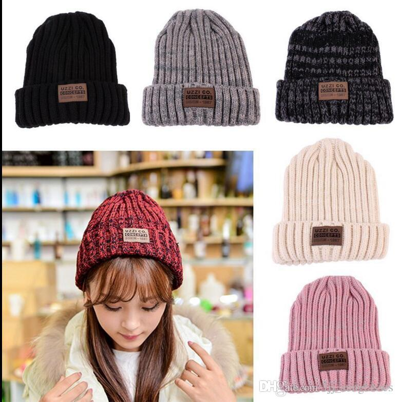 7d5f4c419ad0a5 Women Men Crochet Ski Cap Beanie Wool Knit Hat Winter Warm Fashion Beanie  Classic Tight Knitted Hip Hop Hat KKA2386 Custom Beanies Crochet Beanie  Pattern ...