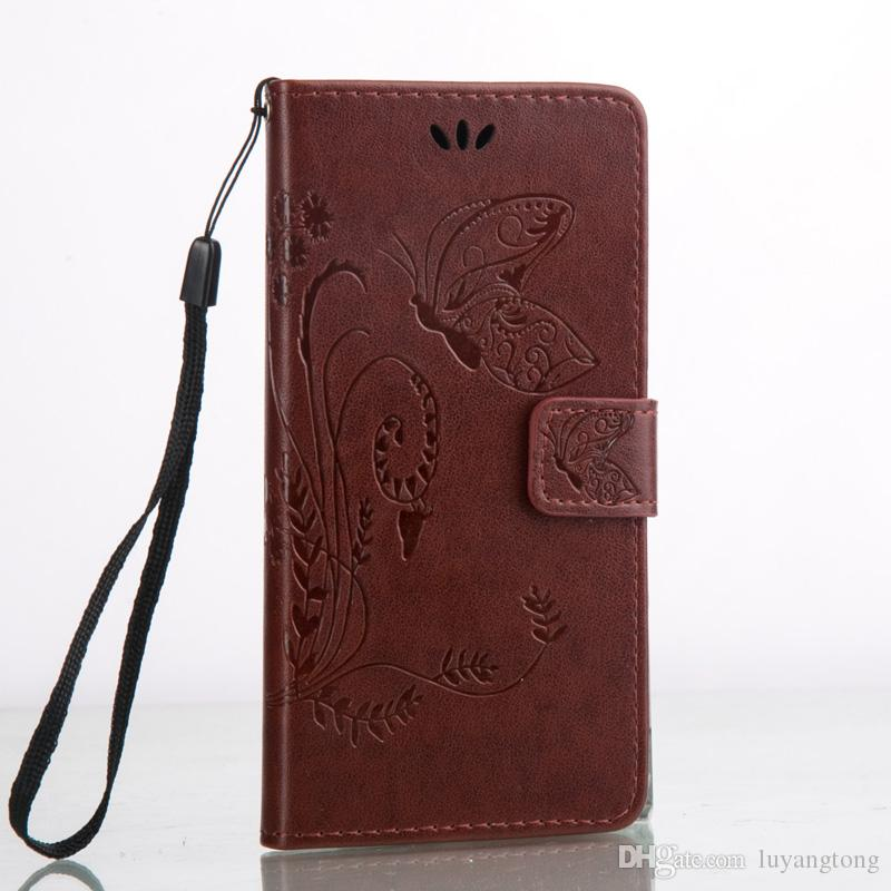 Xperia X Cover Fashion Wallet PU Leather with Embossed Flowers Butterfly Flip Leather Cover for Sony Xperia X with Hand Strap