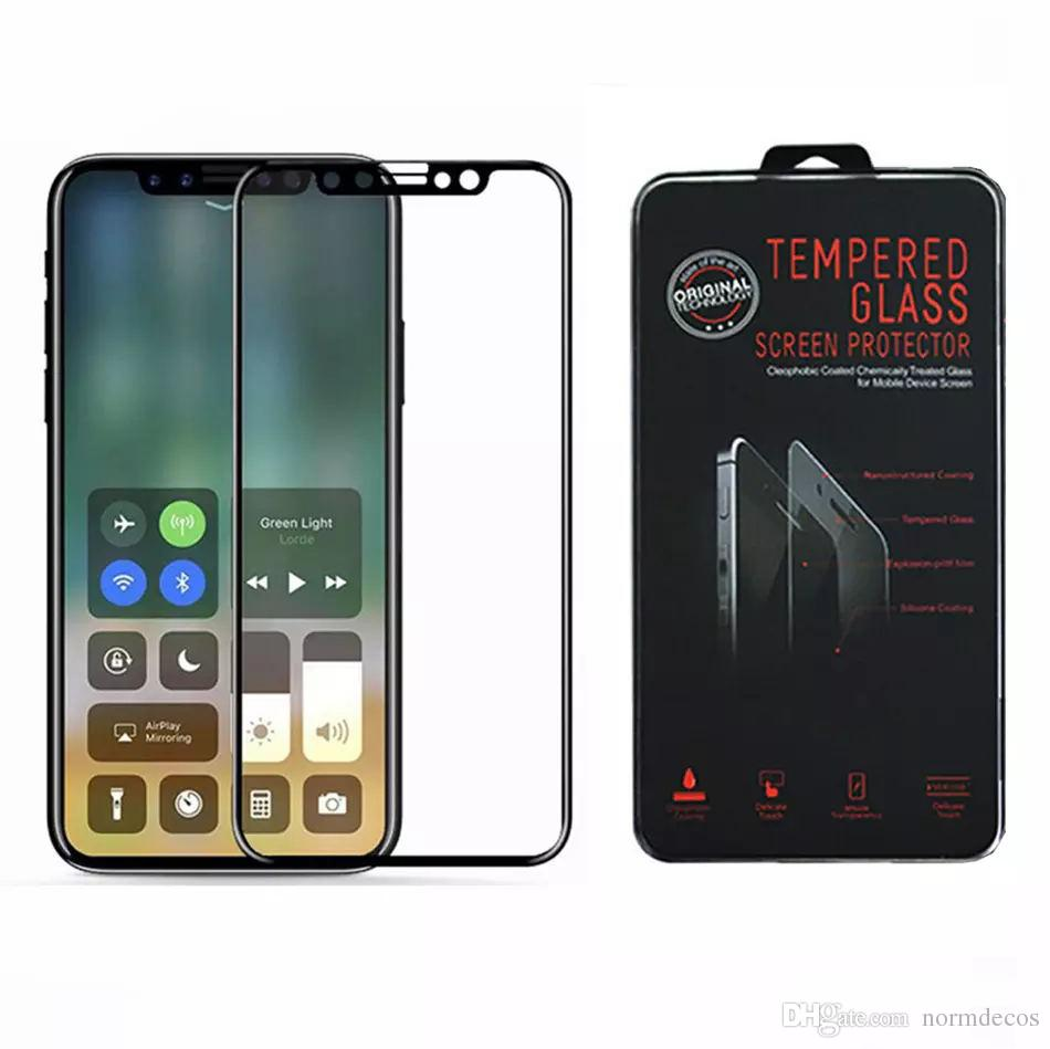 For iPhone X Tempered Glass 3D Soft Edge Full Cover Tempered Glass For iPhone 8 Plus 7 6S Plus Screen Protector Protective Film