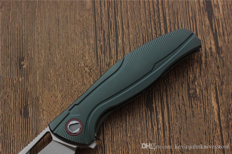 VESPA F7 Folding knife bearing Blade:M390Satin/StoneWash Handle:TC4 Outdoor camping hunting pocket fruit knife EDC tools