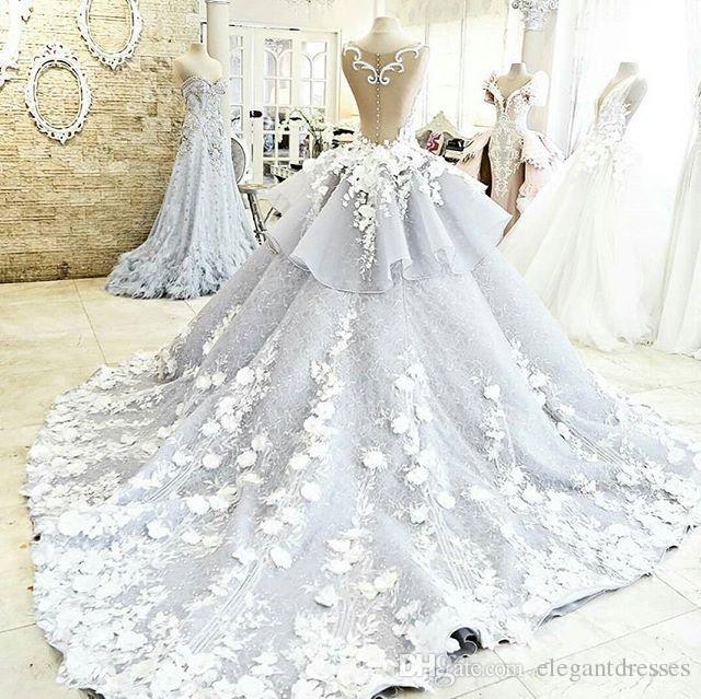 Vestido de pelota Imagen real de encaje Vintage colorido país barato más tamaño vestidos de novia 2021 vestidos de boda con cuentas