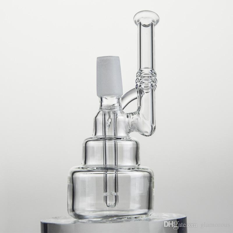 Barato Rig Glass Bongs Hammerhead Cake Glass Bongs Cake Vapor Rig Glass Birthday Cake Bong 14.4 mm Joint Pipe en oferta