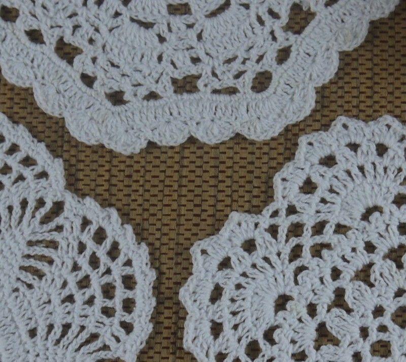 wholesale 100% cotton lace hand made Crochet Doilies cup mat Round Doily 18-20cm ab3h65