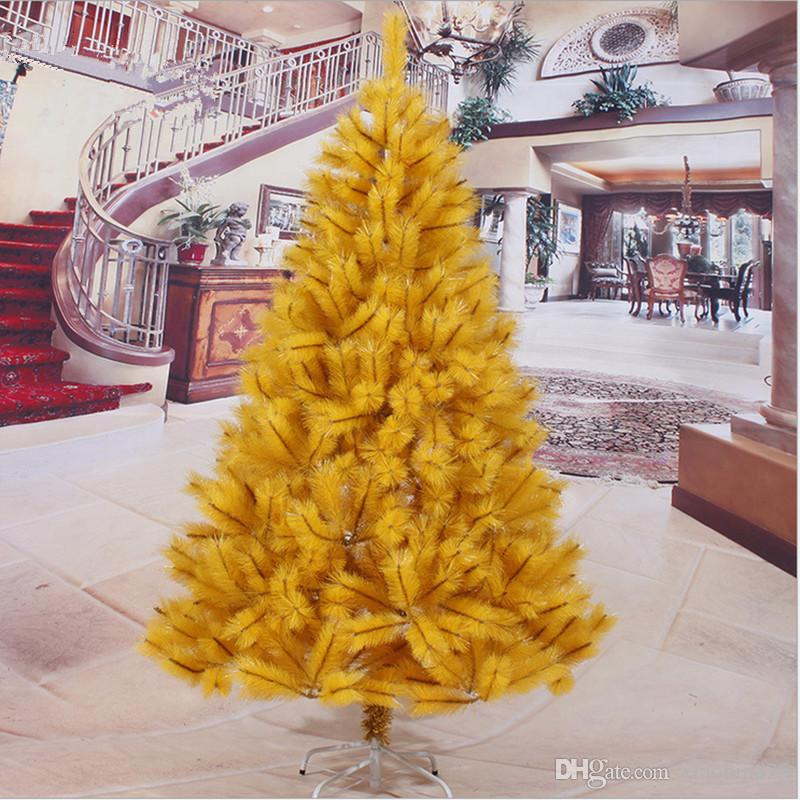 Compre Año Nuevo Navidad 2.1 M / 210cm Aguja De Pino Amarillo Árbol ...