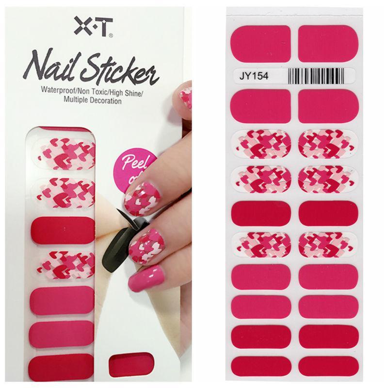 Xt Xt Nail Polish Strips Date Red Love Hearts Waterproof Non Toxic