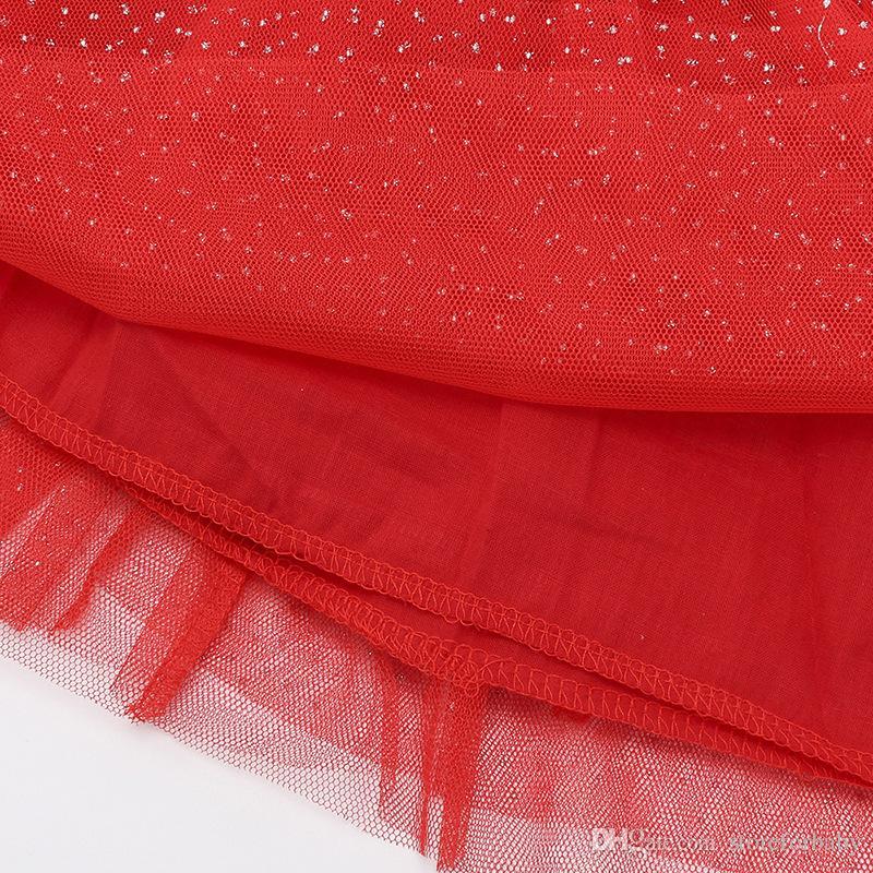 baby girls Christmas Princess dress suit tutu skirt+long sleeves shirt clothing set 100% cotton dresses for kid girl child clothes wholesale