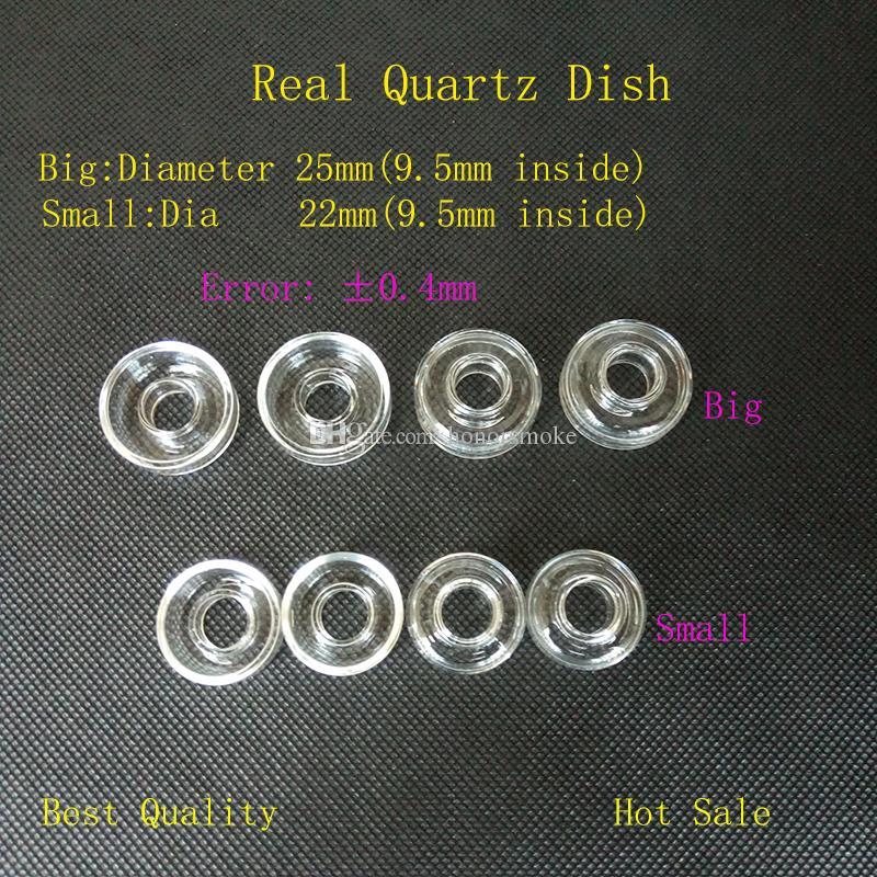 25mm / 22mm OD Quartz Dish Bowl Haute Qualité pour Quartz Banger Titanium Domeless Remplaçable Nail Oil Rig Verre Eau Fumer Tuyaux Bongs