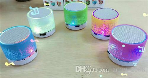 무선 Bluethooth 미니 스피커 A9 LED는 스테레오 휴대용 핸즈프리 스피커는 USB 마이크로 SD TF 카드를 지원 점등
