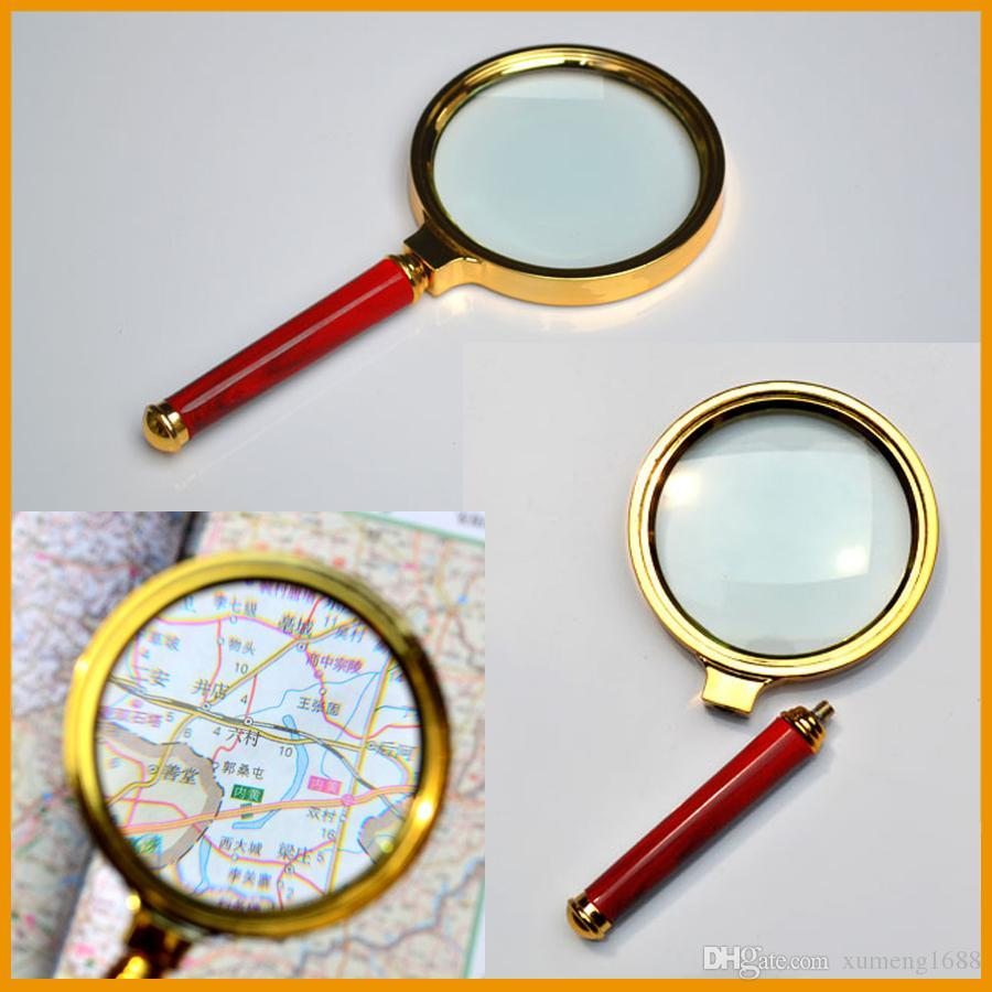 1pcs Reading 10X handheld Magnifier Hand Held Magnifying 80mm Glass handheld Free Shipping High Quality Wholesale