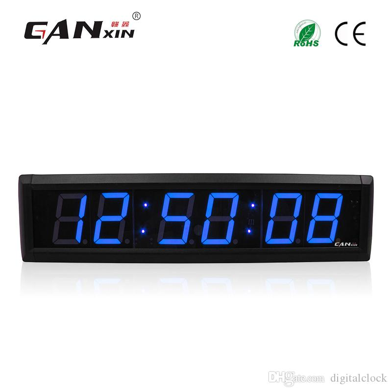 Ganxin23 Inch 6 Digits Led Digital Wall Clock Blue Color Led Timer