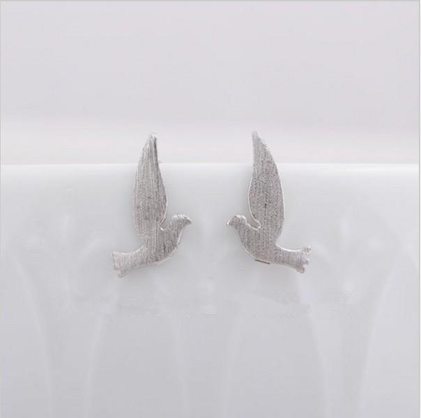 / de mixte couleur paix oiseau mouche marteau double boucles d'oreilles femmes femmes bijoux gros livraison gratuite