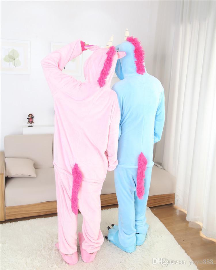 Mens Ladies Pegasus Cosplay Erwachsene Tier Onesies Onsie Overall Pyjamas Pyjamas 1012 S / M / L / XL / XL