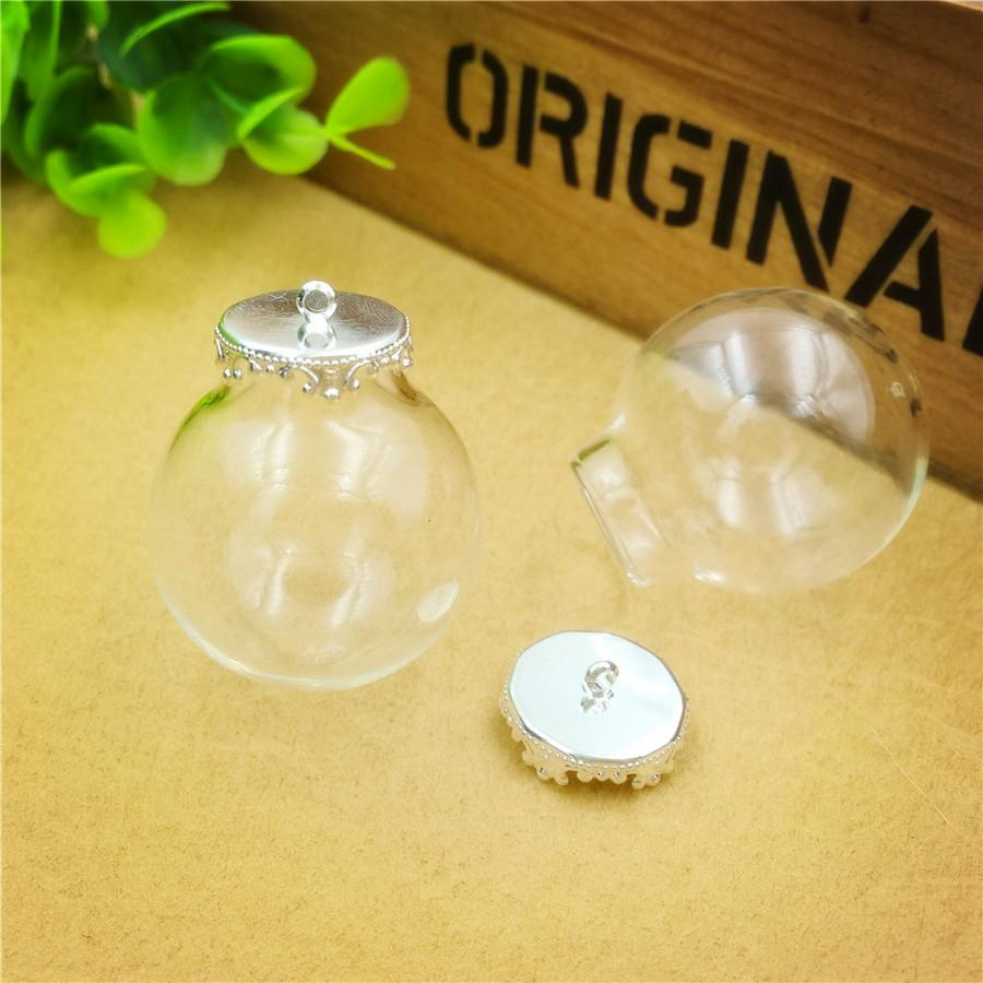 30x15mm empty clear glass bottle with cap finding glass dome ball cover glass vial pendant charms fashion jewelry findings,2 colour choose