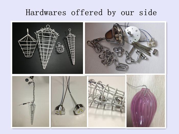 Factory Direct Sell Blue Glass Luxury Chandelier Heart Shape Design LED Bulbs Handmade DIY Hand Blown Glass Indoor Lighting Chandelier