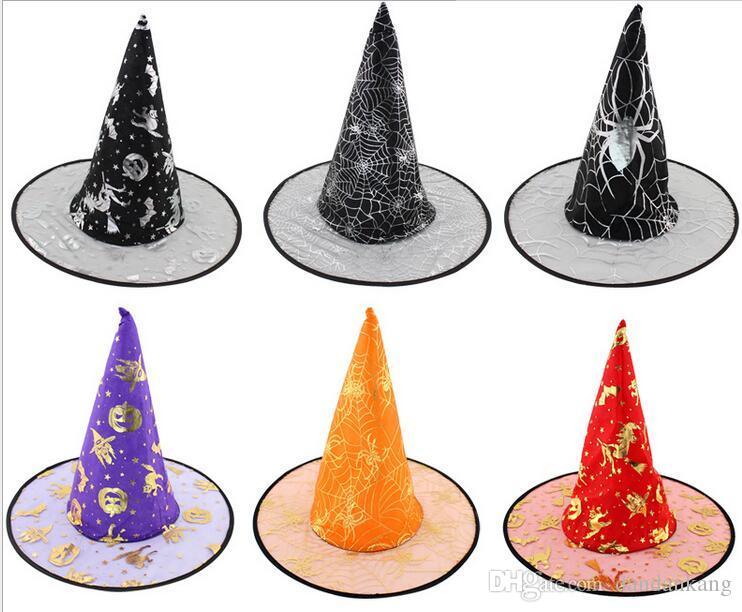 Compre Decoraciones Para Fiestas De Halloween Sombrero De Bruja Sombreros  De Pascua Niños Mujeres Festival Wizard Witcher Gorras Cosplay Harry Potter  Gorras ... cca78cbe7ae