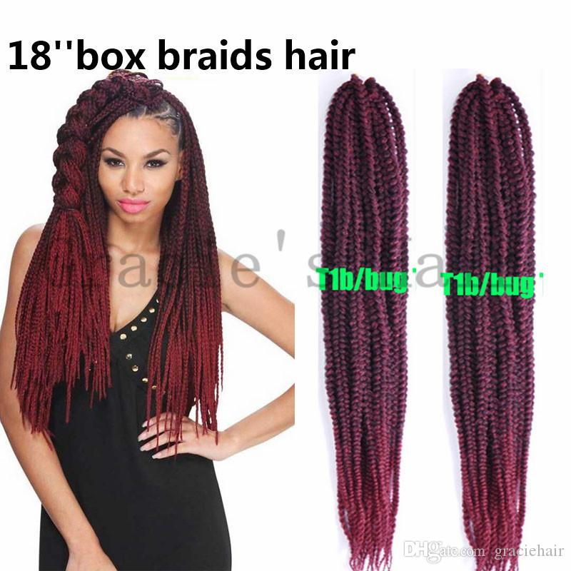 Großhandel 18inch Crochet Box Braid Hair Pre Geflochtene