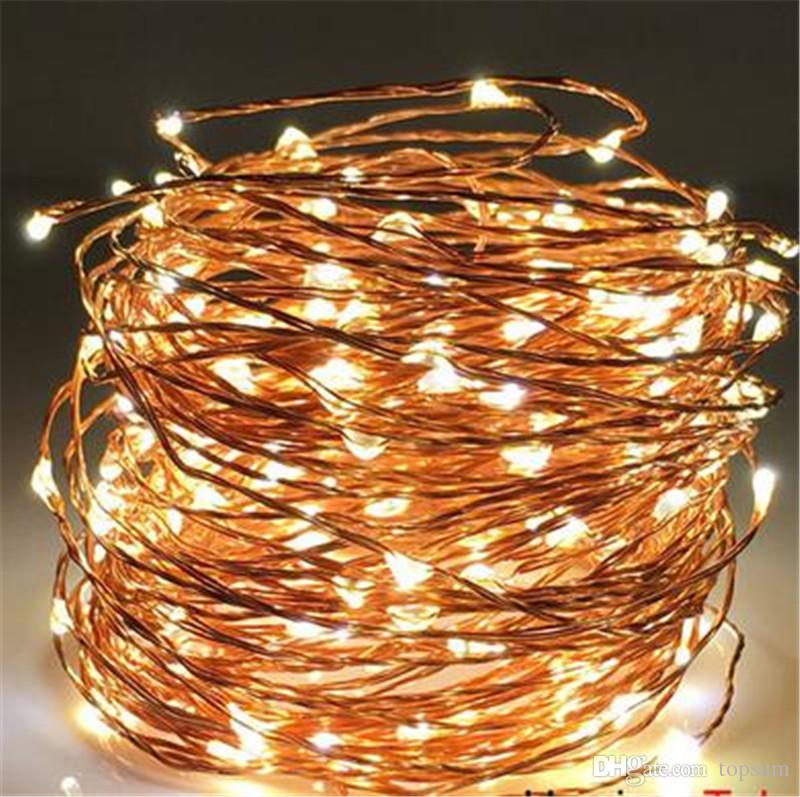 cheap 20x 20m 200l 66ft waterproof ultra thin copper wire firefly warm white fairy string lights decorative for wedding party xmas commercial led string - Firefly Christmas Lights