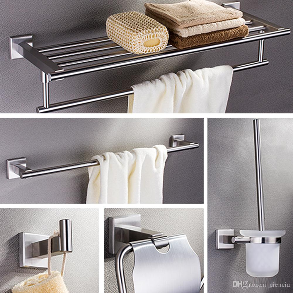 SUS304 Stainless Wall Mount Steel Towel Rack,Robe Hook,Paper Holder ...