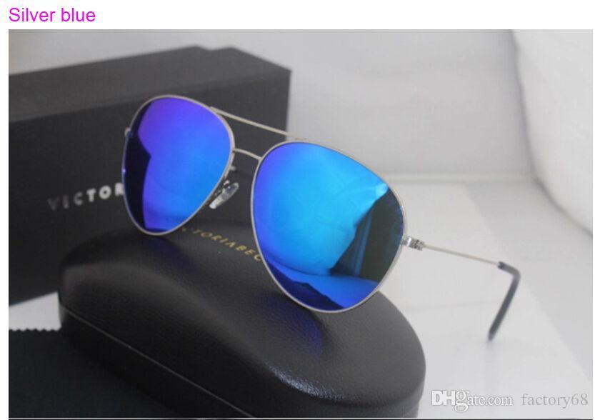 2016 Classic polarizado gafas de sol Victoria Beckham piloto Hombres / Mujeres VB Sun con la CAJA gafas de sol hombre