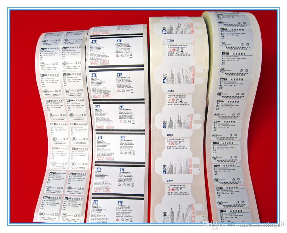 Аксессуары для мобильных телефонов Виниловая упаковка клейкая наклейка этикетки матовый цифровой пользовательский предупреждение Упаковочные наклейки круглые и квадратные