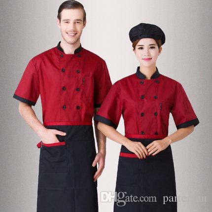 The chef uniform summer wear short sleeve the hotel for Uniformes de cocina precios
