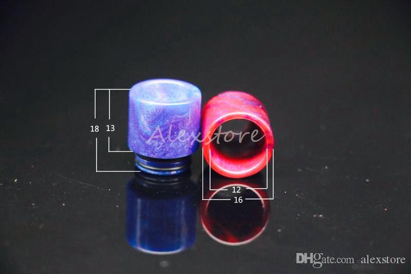 810 510 Thread Epoxy Resin Wide Bore Drip Tip Mouthpiece Vape Drip Tips for TFV8 Prince TFV8 Big Baby Tanks 528 RDA