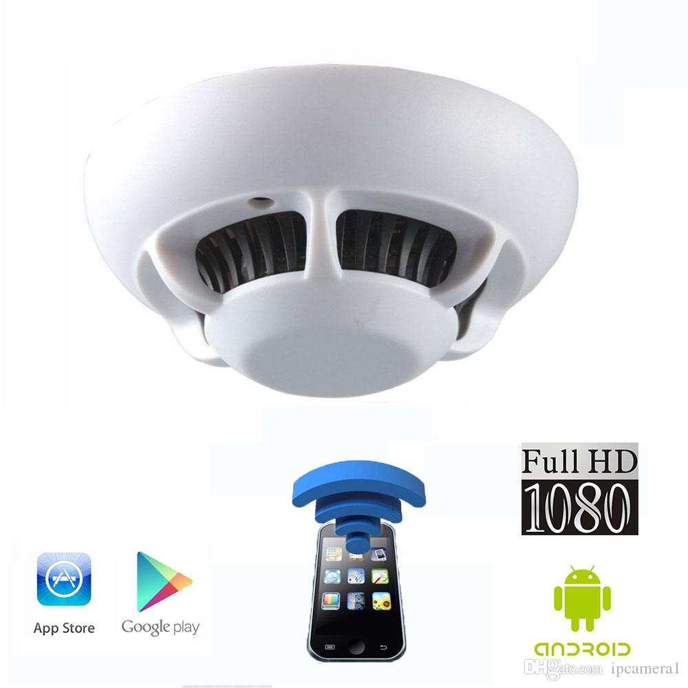 Fhd1080p Wifi Ip Camera Smoke Detector Model With Spy Hidden Cctv ...