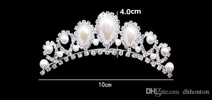 Rhinestone Pearls Crowns Jewelries Cheap Bridal Tiaras Wedding Party Bridesmaid Hair Accessories Headpieces Hair Band For Brides HT144