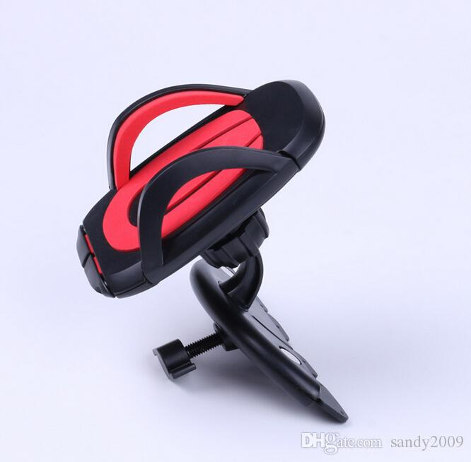 Stable 360° Rotating Car CD Slot Mount Bracket Holder For iPhone Cell Phone