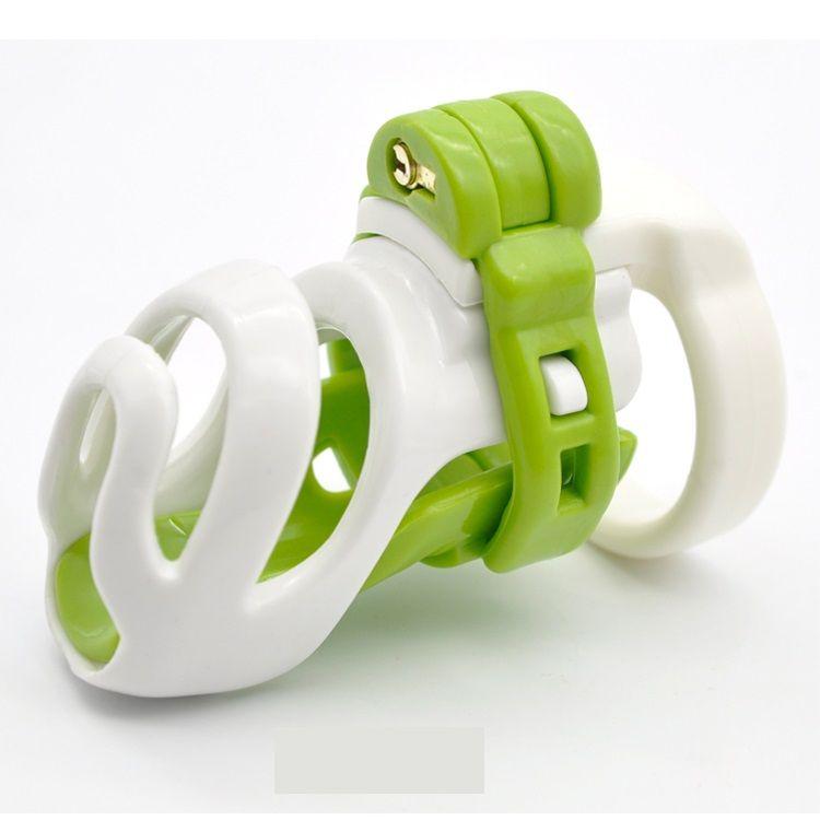 Naturharz 3D Male Standard-Cock Cage PA Verschluss W 4 Größe Penis-Ring-Keuschheitsgürtel Adult Bondage BDSM Sex-Spielzeug 3 Farbe