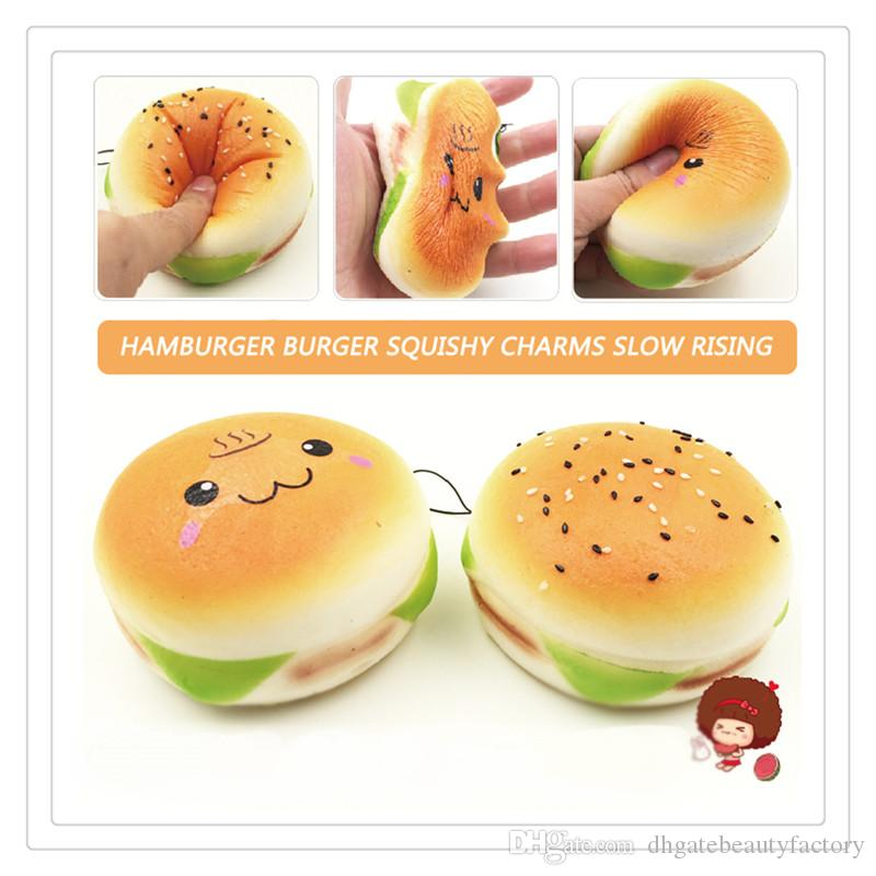 New Hamburger Squishy Hand Wrist Toy Squishies Slow Rising Squeeze Toy Stress Squishies Slow Rising Christmas Gift Phone Case