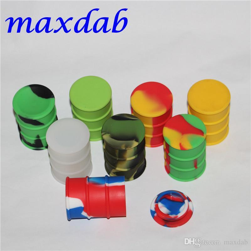 silicone barril de petróleo recipiente frascos DAB borracha óleo cera vaporizador forma cilindro contentor 26ml ferramenta grande silício erva seca dabber aprovado pela FDA