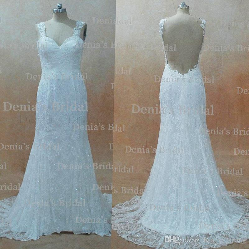 2016 Vintage Sheath Sweetheart Wedding Dresses with Lace Appliques Backless Chapel Train Dhyz 01buy 1 get 1 free tiara