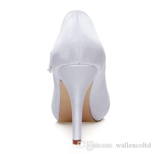 10cm heel Ivory Color Platform Pump Style Mary Jane Bridal Shoes Wedding Dress Shoes Handmade Shoes for Wedding Prom Party Shoes Rhinestones