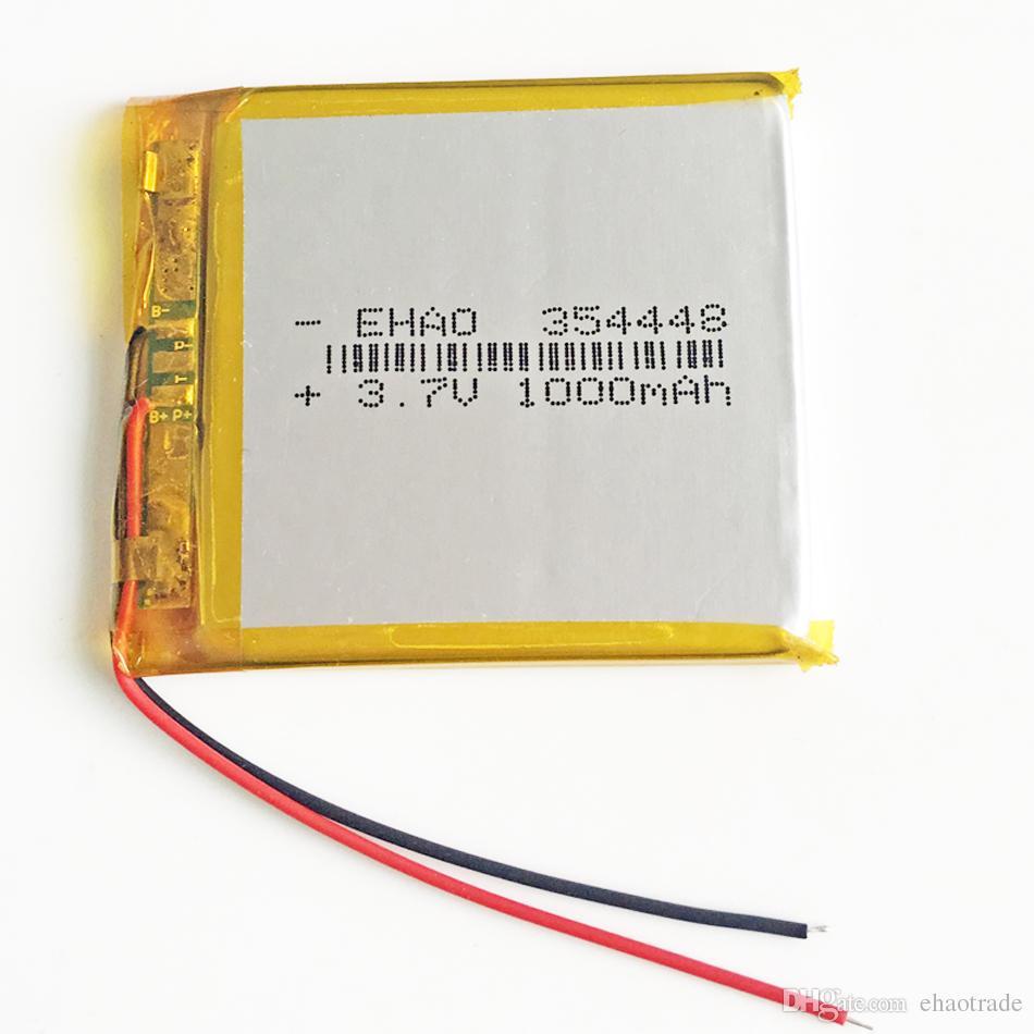 354448 3.7 в 1000 мАч литий-полимерный LiPo Аккумулятор li Ion клетки для Mp3 GPS PSP карманные электронные книги bluetooth рекордер ручка