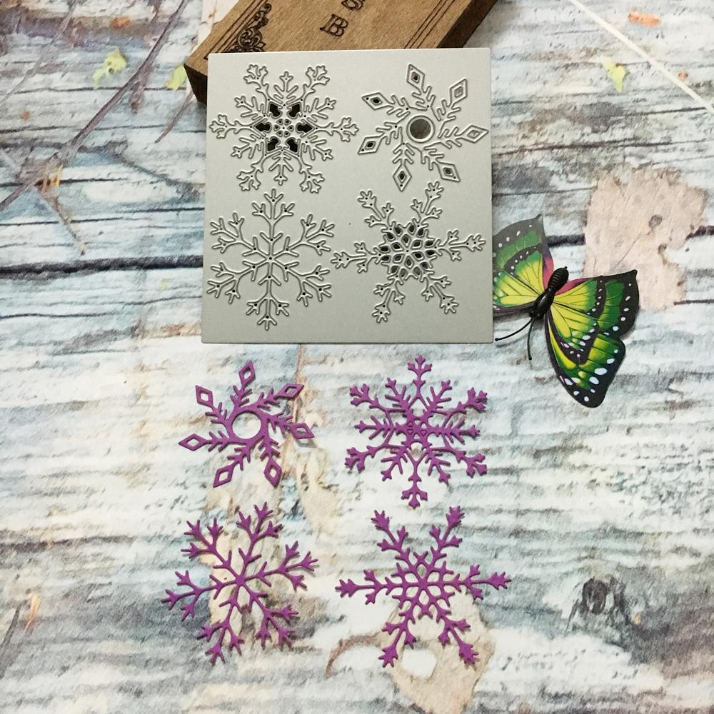 Compre Navidad Copo De Nieve Plantillas De Corte De Metal Plantillas ...