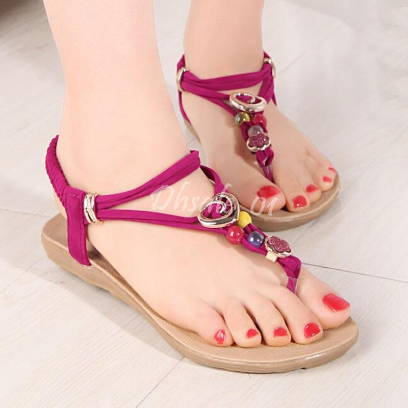 30ac30f7e Bohemian Sandals Women Sexy Beaded Flat Thong Shoes 2016 New Fashion  Bohemian Sandals Women Beaded Sandals Women Thong Sandals Online with   16.19 Pair on ...