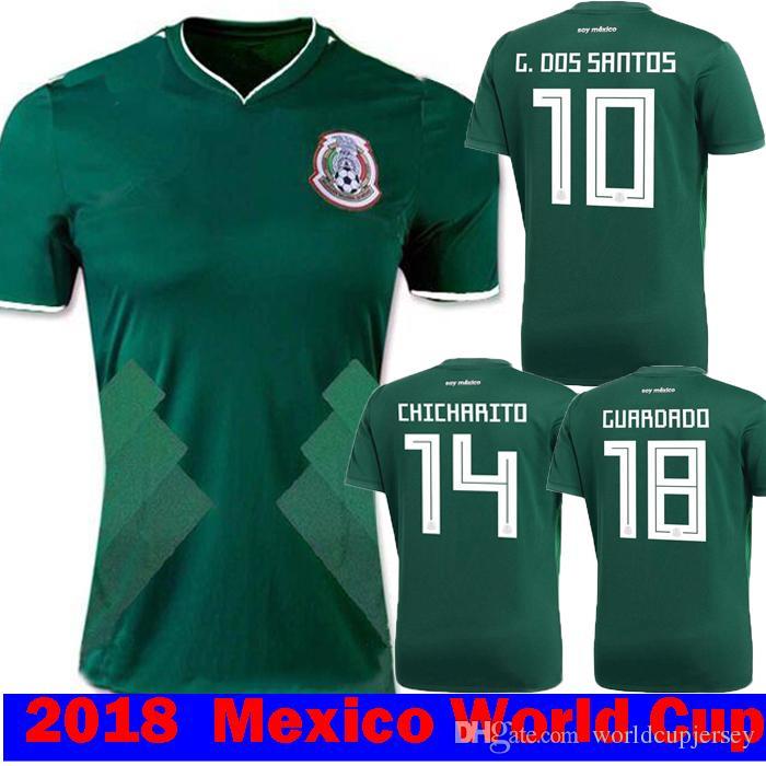 060ebde3e 2019 Thailand MEXICO SOCCER JERSEYS 2018 2019 CHICHARITO Jersey CHUCKY  LOZANO DOS SANTOS HERRERA LAYUN Mexico Football Shirt Camiseta DE Futbol  From ...