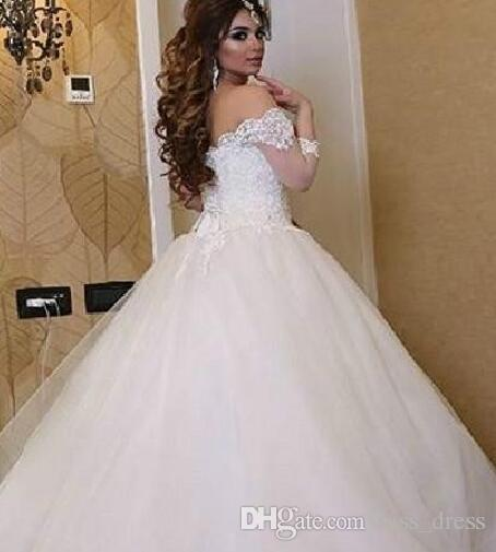2017 Luxury Princess Style Ball Gown Wedding Dresses Off Shoulder 3 ...